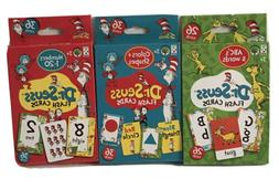 New Dr Seuss Set Of 3 Educational Flash Cards Numbers, Color
