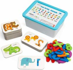 Numbers and ABC Flash Cards Set Wooden Matching Puzzle Games