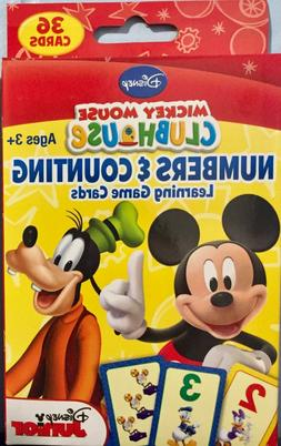 NUMBERS & COUNTING Learning Flash Cards Disney Junior Mickey