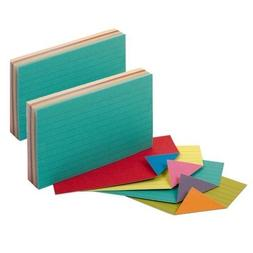 Oxford Extreme Index Cards, 3 x 5 Inches, Assorted Colors