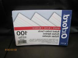 Oxford Ruled Index Cards, White, 4 x 6 Inches, 100 per Pack