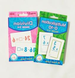 Pack of 2 Multiplication & Division Double Sided Print Flash