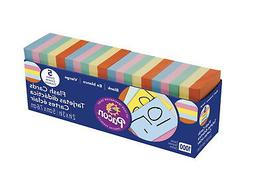 Pacon Blank Flash Cards, Assorted Colors, 2 x 3 Inches, Pack