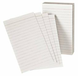 Oxford Padded Memo Ruled Index Cards, White, 5 x 3 Inches, 1