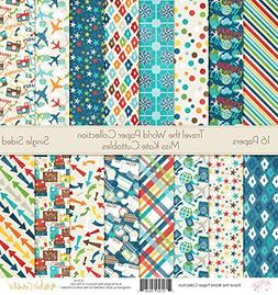 Pattern Paper Pack - Travel The World - Scrapbook Specialty