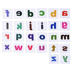 BCP set of 26 pcs Plastic Magnetic Lowercase Letters Alphabe