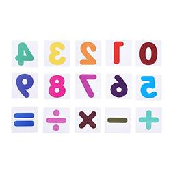 BCP set of 15 pcs Plastic Magnetic Number and Math Sign Flas