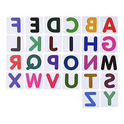 BCP set of 26 pcs Plastic Magnetic Uppercase Letters Alphabe