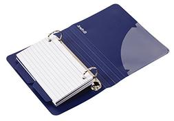 Oxford Poly Index Card Binder, 3 x 5 Inches, Color Will Vary
