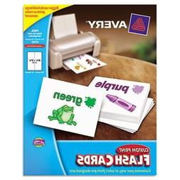 Avery Printable Flash Cards, 4 1/2 X 5 1/2, White, 4 Cards/S