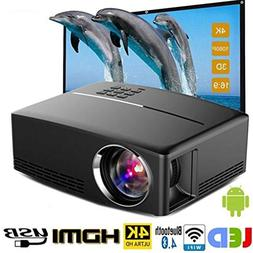 Projector-Mini Portable Video Projector-1800 Lumens LED Home