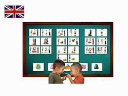 Pronouns Flash Cards in English - Vocabulary Picture Cards f