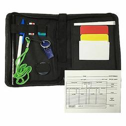 Referee Data Wallet- Cards- Notes - Notepad - Pen - Whistle