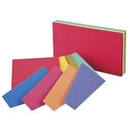 Oxford Ruled Index Cards, 3 x 5 Inches, Assorted Extreme Col