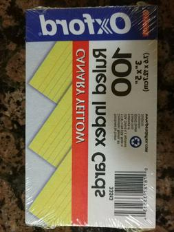oxford ruled index cards 3x5