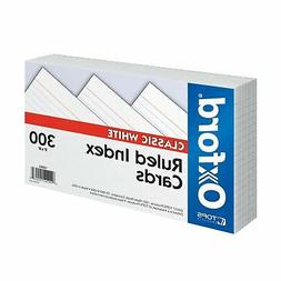 """Oxford Ruled Index Cards, 5"""" x 8"""", White, 300 pack  5 X 8"""