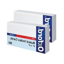 "Oxford Ruled Index Cards, 5"" x 8"", White, 100/Pack"