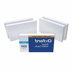 """Oxford Ruled Index Cards, 5"""" x 8"""", White, 500 Cards"""