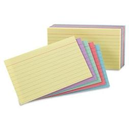 Oxford Ruled Index Cards, 5 X 8, Blue/Violet/Canary/G... 100
