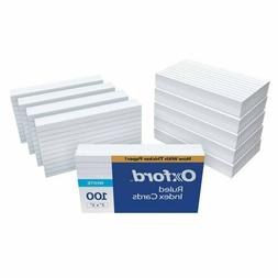 "Oxford Ruled Index Cards, 3"" x 5"", White, 1,000 Cards"