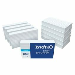 "Oxford Ruled Index Cards, 3"" x 5"", White, 1,000 Cards, 10 Pa"