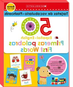 Scholastic 50 First Words English / Spanish Flash Cards FREE