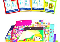 School Zone Flash Cards Math Set Kids -- 4 Packs