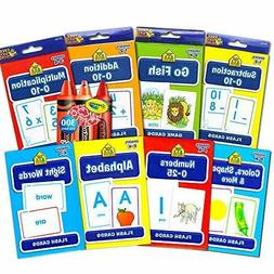 School Zone Flash Cards Super Set for Toddlers/Kids ~ 8 Pack