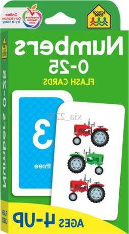 School Zone-Numbers 0-25 Flash Cards-Ages 4 to 6, Preschool,