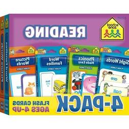 School Zone Reading Flash Cards 4-Pack  - Reading Flash Card