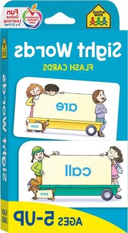 School Zone - Sight Words Flash Cards Ages 5 and Up, Kinderg