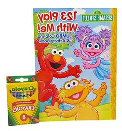 Sesame Street 123 Play With Me Coloring and Activity Book, w