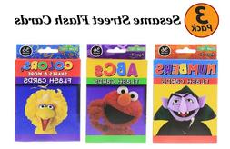 Bazic 3 Pack Sesame Street Flash Cards Early Learning, Set I
