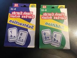 SET OF 2 LEARNING FLASH CARDS - ADDITION SUBTRACTION MATH -