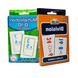 Set of 2 Multiplication & Division Learning Flash Cards Doub