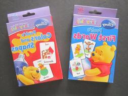 "Set Of 2 Disney Pooh's Flash Cards 3"" x 5"", ""First Words"" An"