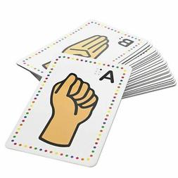 Set of 26 Magnetic Sign Language Alphabet Flash Cards with G