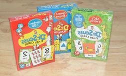 SET OF 3-Dr. Seuss Flash Cards NUMBERS, ABC'S/WORDS AND COLO