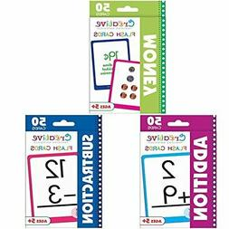 Creative Teaching Materials Set of 3 Flash Cards: Money, Add