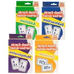 Set Of 4 Packs Of Learning Flash Cards Add, Multiply,Divisio