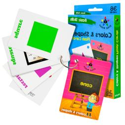 Star Right Colors and Shapes Flash Cards with Pictures, 36 C