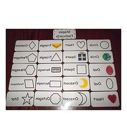 Shapes flash cards. Preschool and Pre Kindergarten learning