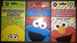 Sesame Street Colors Shapes & More, ABCs, and Beginning Word