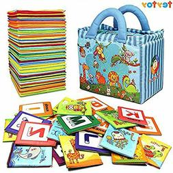 Soft Alphabet Cards With Cloth Bag For Over 0 Years Baby Toy