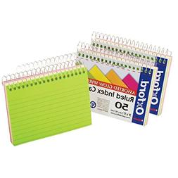 Oxford Spiral Bound Glow, 3X5 Ruled Index Card, 2 Pack of 50