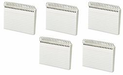 Oxford - Spiral Index Cards, 3 x 5, 50 Cards - White 5 Pack