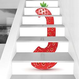 Stair Stickers Wall Stickers,6 PCS Self-adhesive,Letter C,St