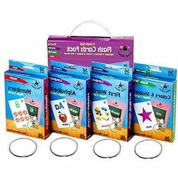 Star Flash Cards Right Set Of 4 - Numbers, Alphabets, First