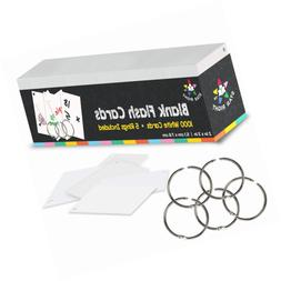 "Star Right Blank Flash Cards - 5 Rings, 1000 Index, 2x3"" - f"