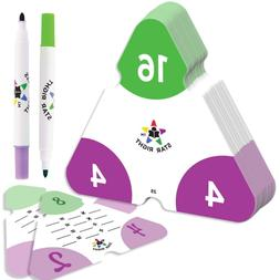 Star Right Multiplication and Division Triangle Flash Cards,